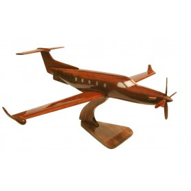 maquette avion bois - Pilatus PC-12 NG