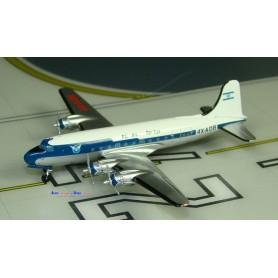 Modello in metallo - EL AL Douglas DC-4 4X-ADB (combi version)