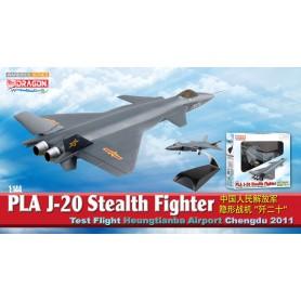 Plane metal model - J-20 Stealth Fighter Test Flight Heungtianba Airport 2011