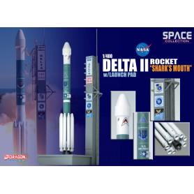 """Modell aus Metall - Delta II Rocket USAF """"GPS-IIR-16"""" - 1/400"""