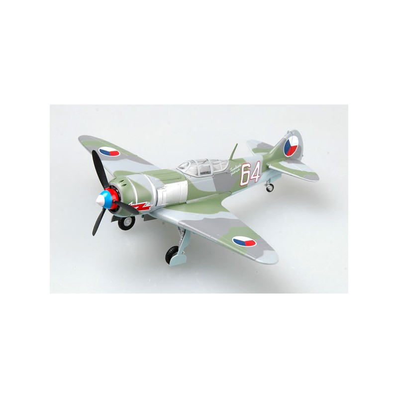 Plane plastic Model - LA-7 White 64 - Tchèque - Easy Models 1/72