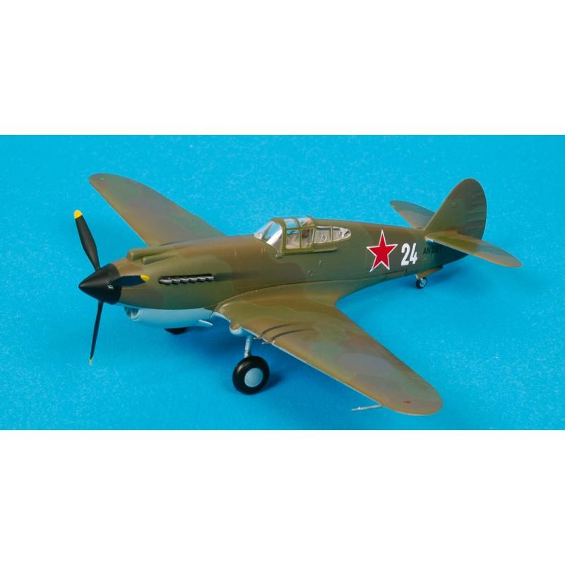Plane plastic Model - P-40B Warhawk 154th IAP Soviet naval - Easy Models 1/72 - pack 2