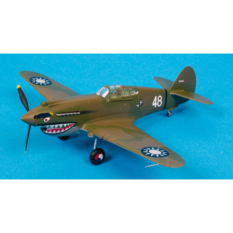 Maquette plastique - P-40B Flying Tigers 2nd Squadron - Easy Models 1/72 - Pack 2