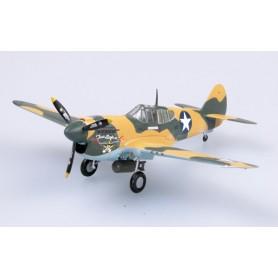 Maqueta de plástico - P-40E 9 FS 49 FG Texas Longhorn 1942 - Easy Models 1/72- pack 2