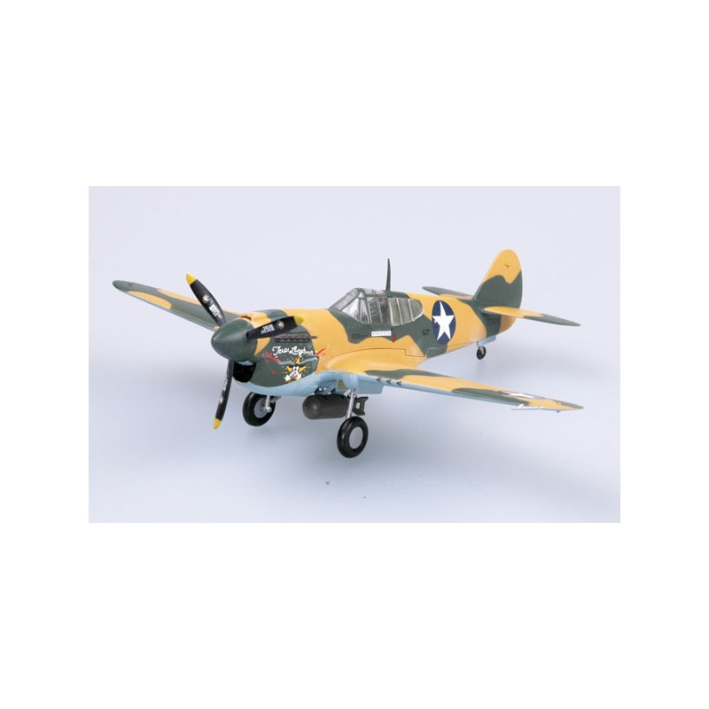 Plane plastic Model - P-40E 9 FS 49 FG Texas Longhorn 1942 - Easy Models 1/72- pack 2
