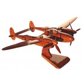 maquette avion bois - P-38 Lightning