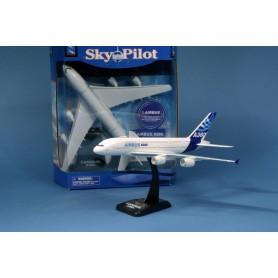 Plane plastic Model - Airbus A380 23cm 1/300 sur socle - Sky Pilot of New Ray (condi:6pcs)