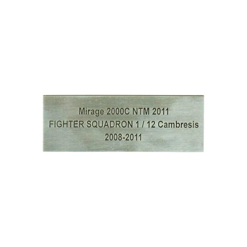 Engreved plaque- aero-passion.fr