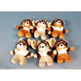 Mini Ours & Souris aviateur / Mini cuddly bear & mouse (6pcsmix) 10cm