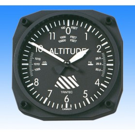 Altimeter style - Wall Clock 17x17cm