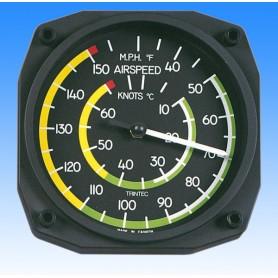 Badin indicateur de vitesse style - Thermom�tre Mural 17x17cm