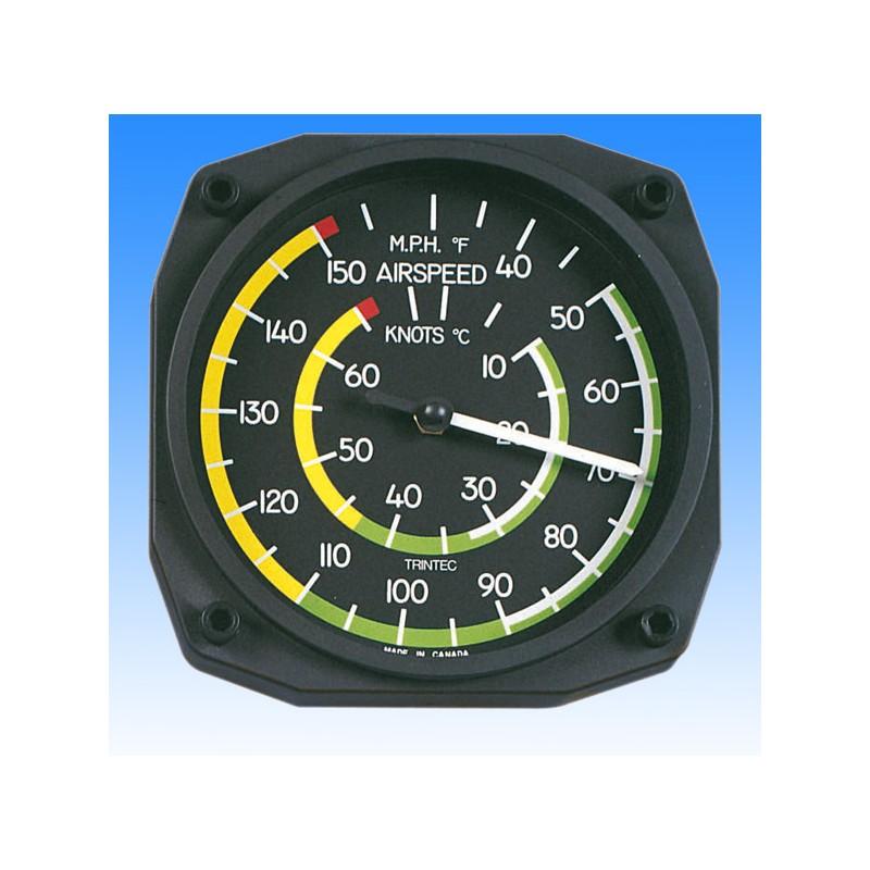 Badin indicateur de vitesse style - Thermomètre Mural 17x17cm