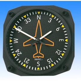 Directional gyro style - Wall Clock 17x17cm