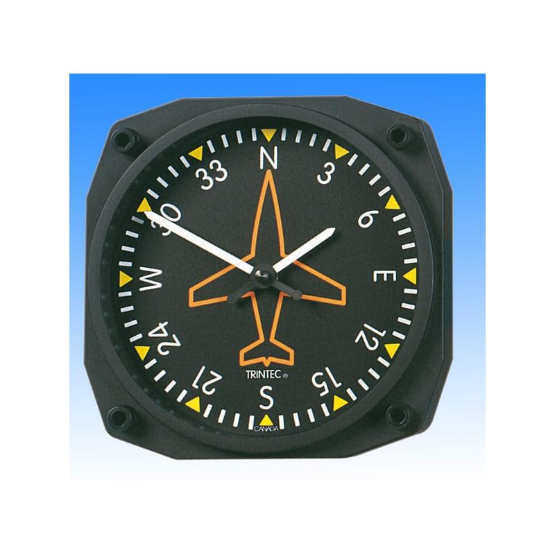 Gyroscope Directionnel style - Horloge Murale 17x17cm
