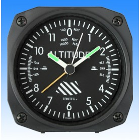 Altim�tre style - r�veil/Travel Alarm clock - 9x9cm