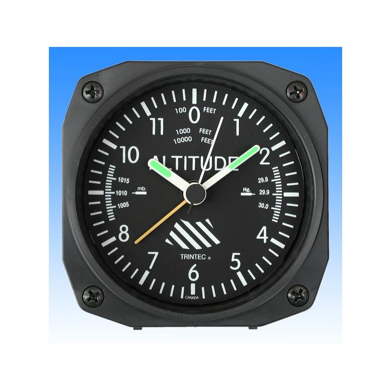 Altimeter style - réveil/Travel Alarm clock - 9x9cm