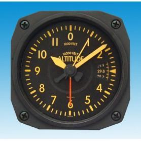 Altim�tre Vintage style - r�veil/Travel Alarm clock - 9x9cm