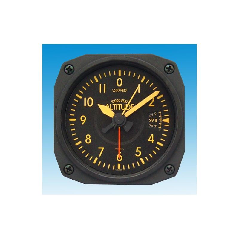 Altimètre Vintage style - réveil/Travel Alarm clock - 9x9cm
