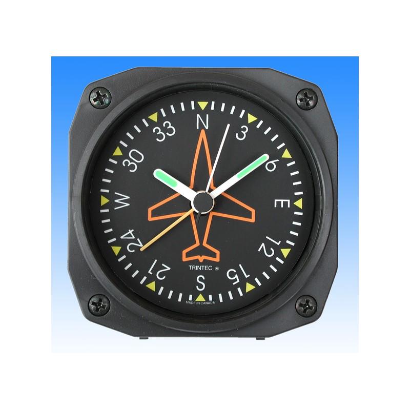 Gyroscope Directionnel style - réveil/Travel Alarm clock - 9x9cm
