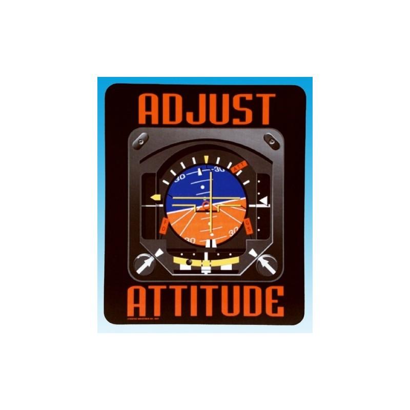Adjust Your Attitude Mousepad / mousepads 22.50x19cm
