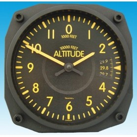 Altimeter Vintage style - Wall Clock 17x17cm