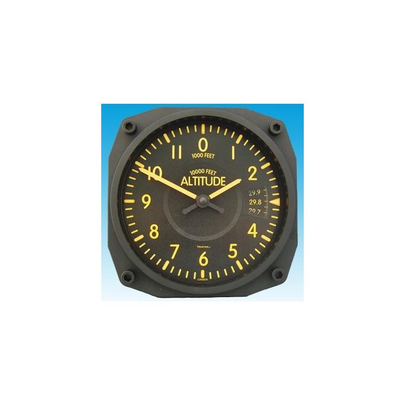 Altimètre Vintage style - Horloge Murale 17x17cm