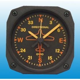 Directional Gyro Vintage - R�veil / Travel Alarm clock - 9x9cm