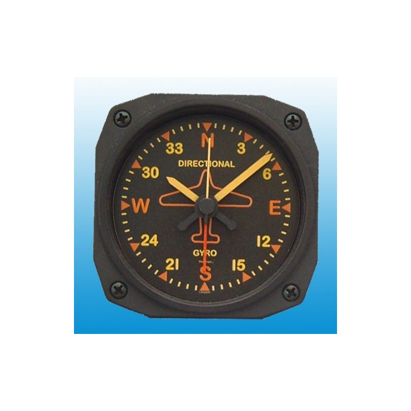 Directional Gyro Vintage - Réveil / Travel Alarm clock - 9x9cm