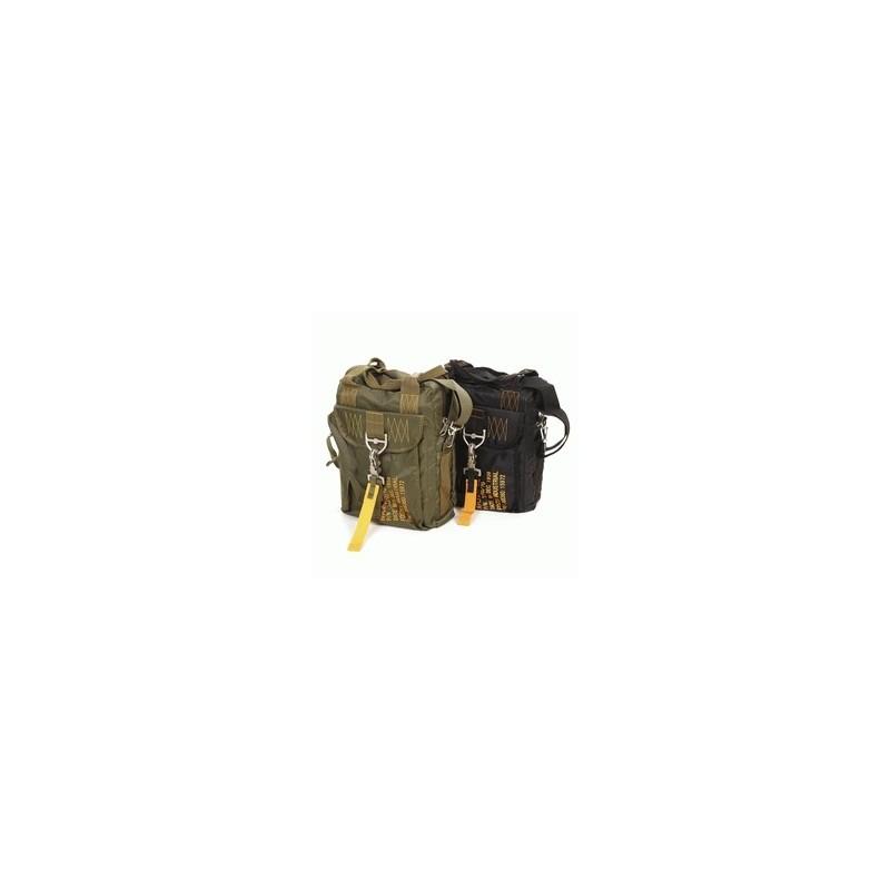 Traveling bag -Bag handles card holder /Handle briefbag - Military Mode Noir/Black