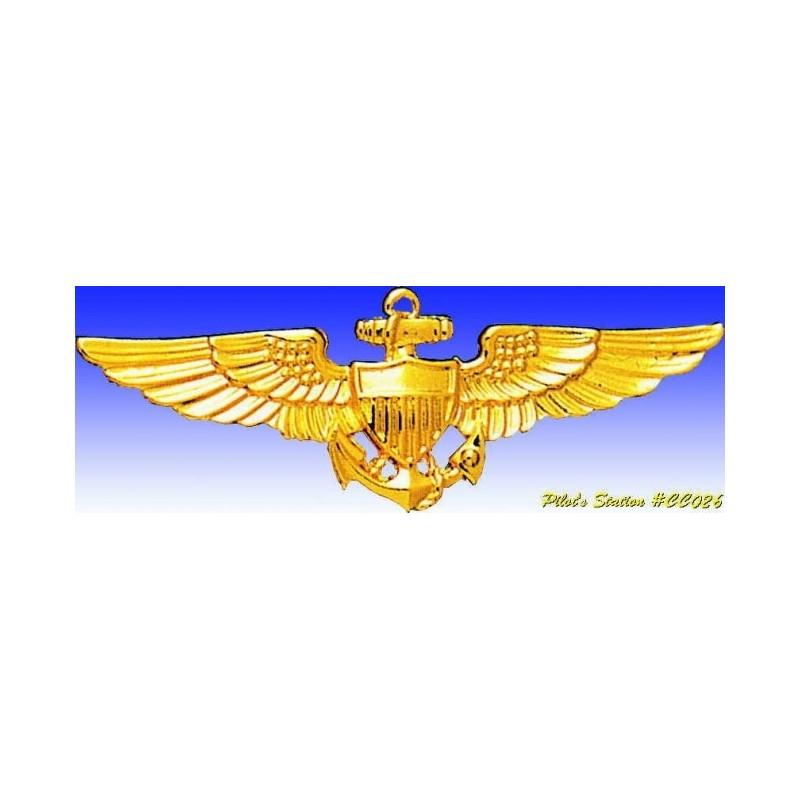 Metal badge -US Navy Pilot Wings now - Insigne - DJH