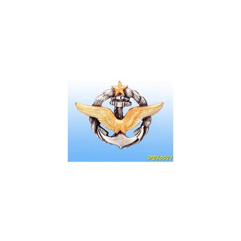 Metal badge -pilot Aéronavale - French patent