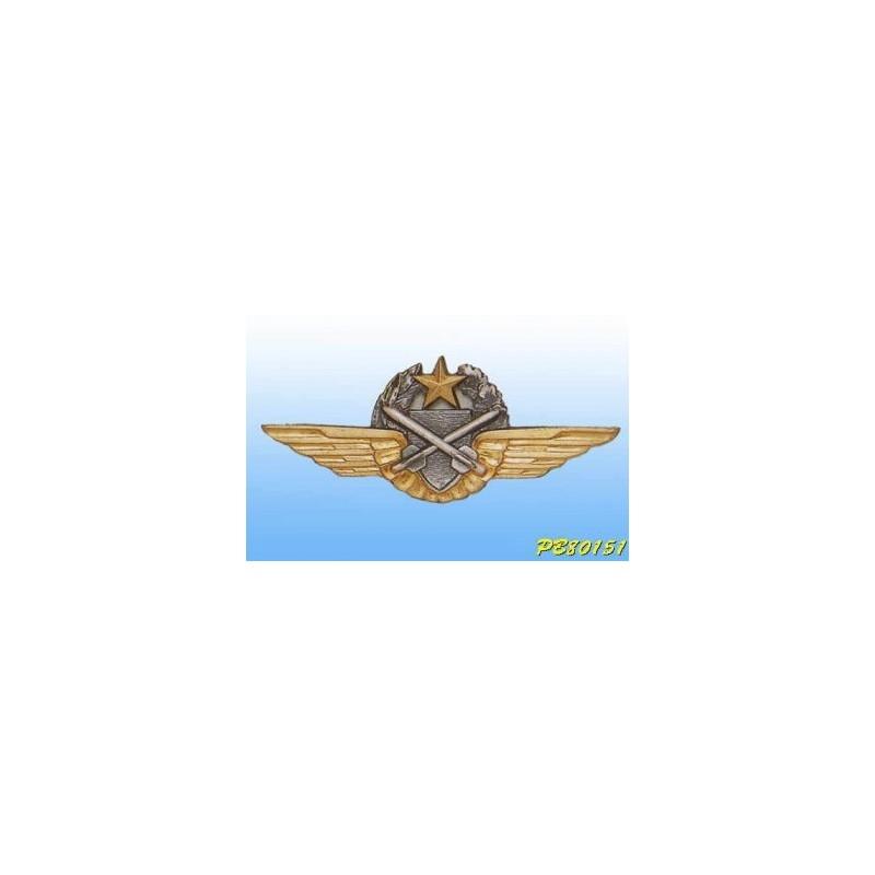 Metal badge -observer-pilot-Tireur Missile ALAT - French patent