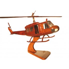 maquette helicoptere bois - Bell Huey UH-1 opening doors