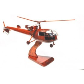 maquette helicoptere bois - Alouette III