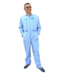 Adult light blue coverall