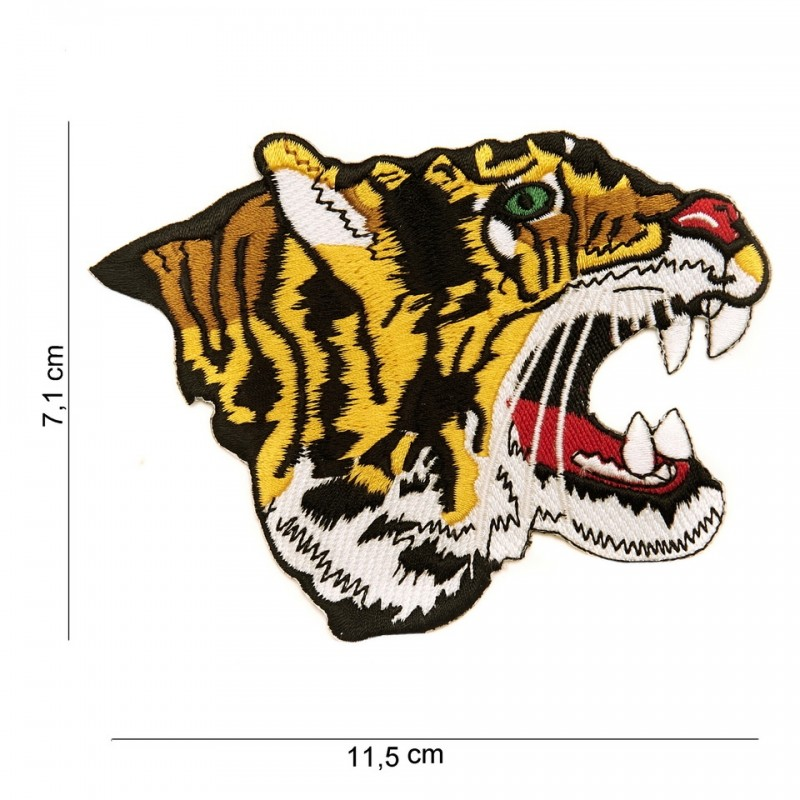 Embroidered patch - Tiger profil
