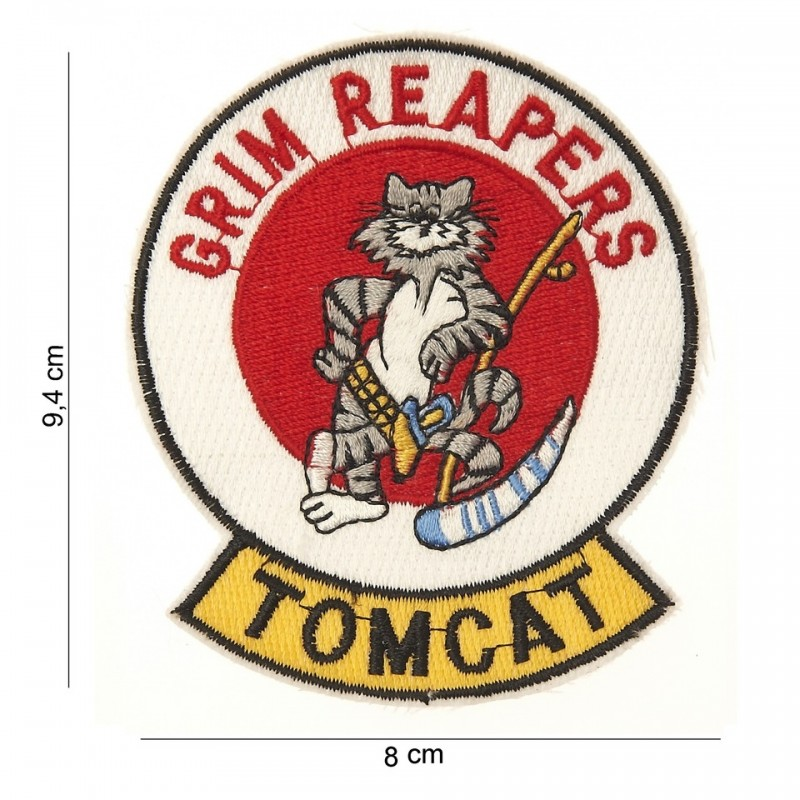 Embroidered patch - Grim reaper Tomcat