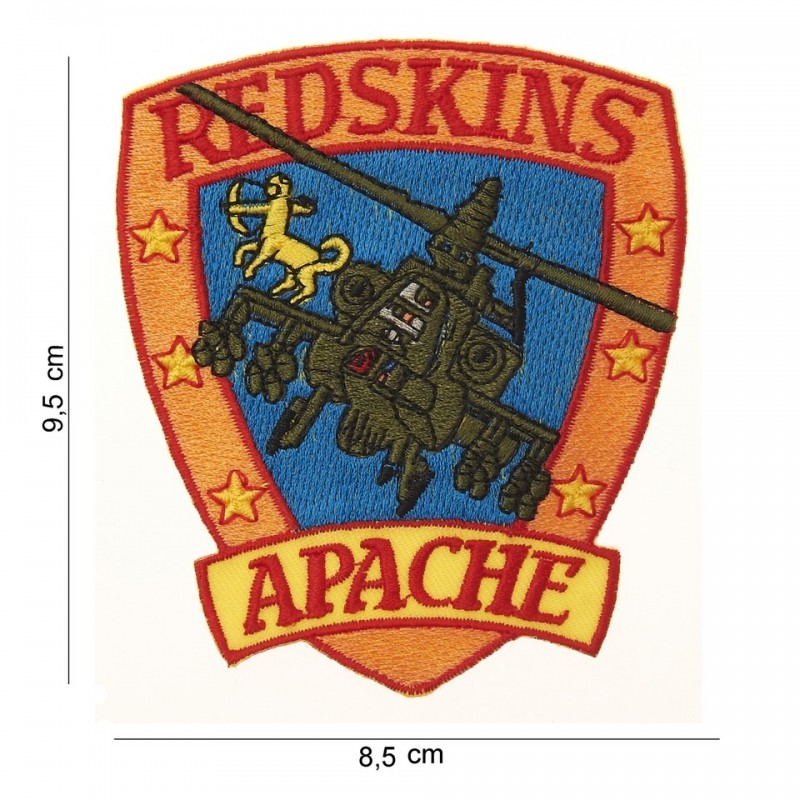 Embroidered patch - Red skins Apache
