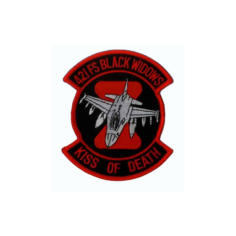 Embroidered patch - 421FS black widows - Kiss of Death - Patche 11x9.5cm