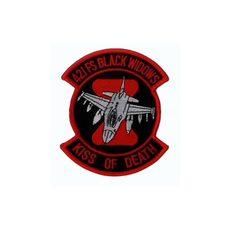 patch bordado de - 421FS black widows - Kiss of Death - Patche 11x9.5cm