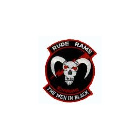 Embroidered patch - Rude Rams - The men in black - Patche 11x8.5cm