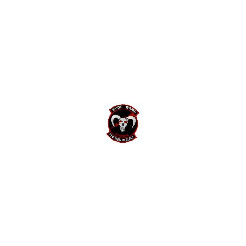 patch bordado de - Rude Rams - The men in black - Patche 11x8.5cm
