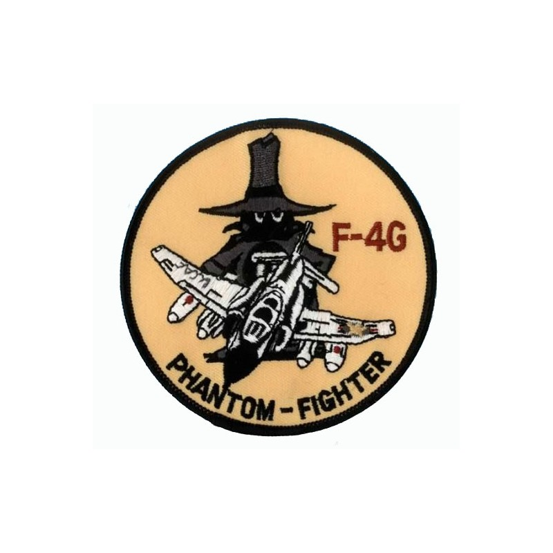 Embroidered patch - Phantom Fighter F-4G - Patche 10cm