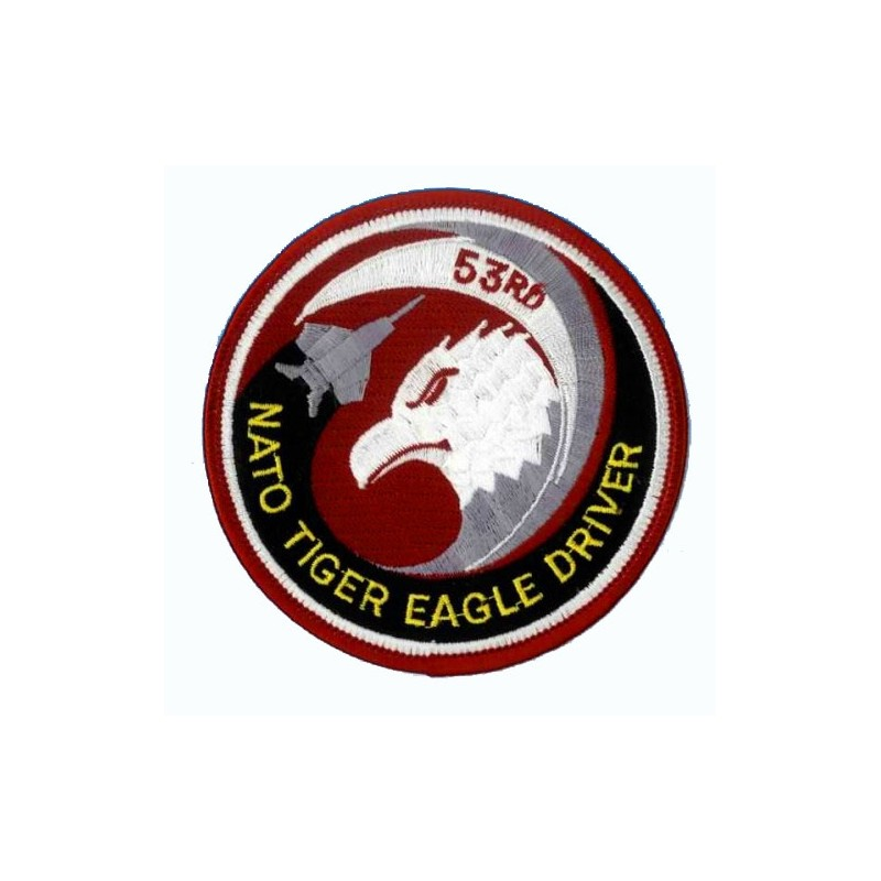Embroidered patch - Nato Tiger Eagle driver - Patche 10cm
