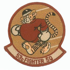 patch bordado de - 53th Fighter Squadron - Patche 9.5x8cm