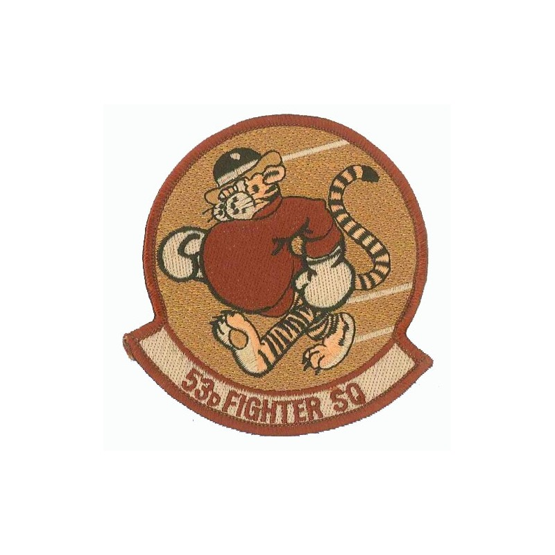 Embroidered patch - 53th Fighter Squadron - Patche 9.5x8cm
