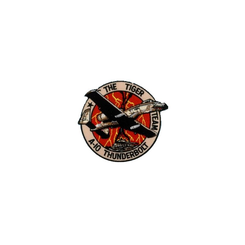 Embroidered patch - A-10 Thunderbolt The tiger Team - Patche 12cm