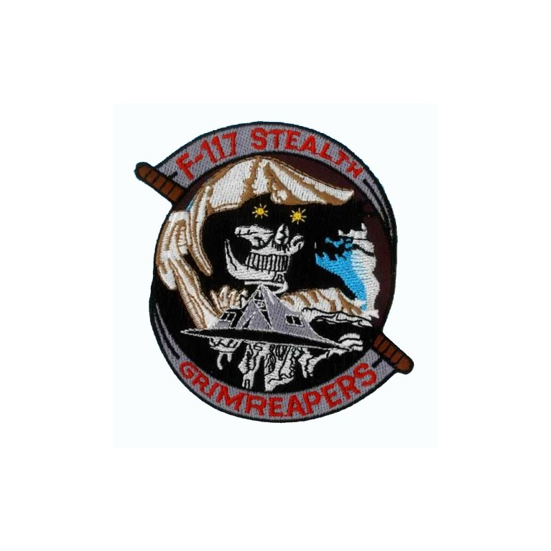 Embroidered patch - F-117 Stealth Grimreapers - Patche 10x8.5cm