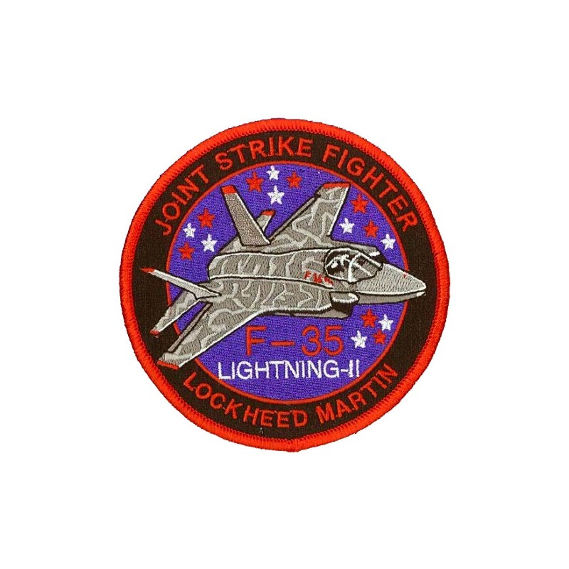 Embroidered patch - Joint Strike fighter F-35 Lightning II. Patche 10cm