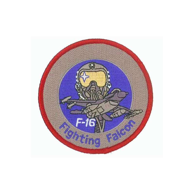 Embroidered patch - F-16 Fighting Falcon (blue) - Patche 11cm